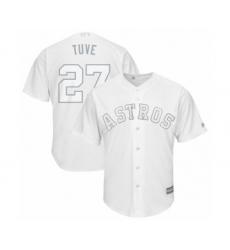Men's Houston Astros #27 Jose Altuve  Tuve  Authentic White 2019 Players Weekend Baseball Jersey