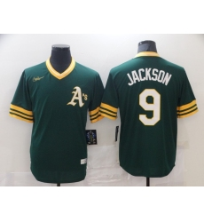 Men's Nike Oakland Athletics #9 Reggie Jackson Green Alternate Flex Base Authentic Jersey