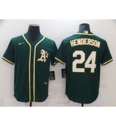 Men's Nike Oakland Athletics #24 Rickey Henderson Green Alternate Jersey
