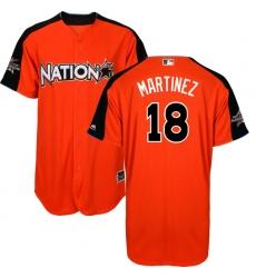 Men's Majestic St. Louis Cardinals #18 Carlos Martinez Replica Orange National League 2017 MLB All-Star MLB Jersey