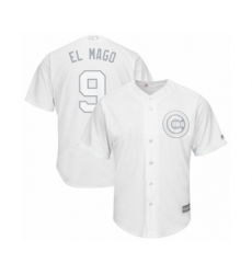 Men's Chicago Cubs #9 Javier Baez  El Mago Authentic White 2019 Players Weekend Baseball Jersey
