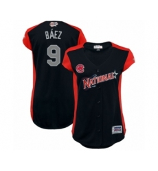 Women's Chicago Cubs #9 Javier Baez Authentic Navy Blue National League 2019 Baseball All-Star Jersey