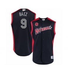Youth Chicago Cubs #9 Javier Baez Authentic Navy Blue National League 2019 Baseball All-Star Jersey