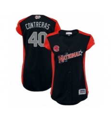Women's Chicago Cubs #40 Willson Contreras Authentic Navy Blue National League 2019 Baseball All-Star Jersey