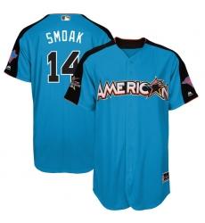 Youth Majestic Toronto Blue Jays #14 Justin Smoak Replica Blue American League 2017 MLB All-Star MLB Jersey