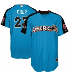Youth Majestic Seattle Mariners #23 Nelson Cruz Authentic Blue American League 2017 MLB All-Star MLB Jersey
