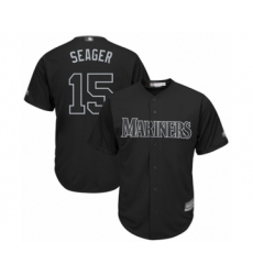 Men's Seattle Mariners #15 Kyle Seager  Seager  Authentic Black 2019 Players Weekend Baseball Jersey