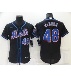 Men's Nike New York Mets #48 Jacob deGrom Black Home Stitched Baseball Jersey