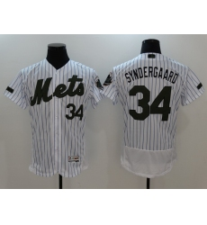 Men's New York Mets #34 Noah Syndergaard White Home Stitched Baseball Jersey