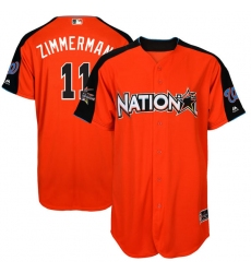 Men's Majestic Washington Nationals #11 Ryan Zimmerman Replica Orange National League 2017 MLB All-Star MLB Jersey