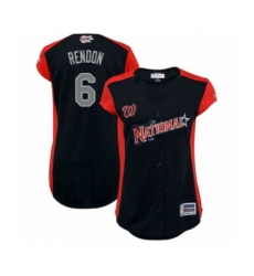 Women's Washington Nationals #6 Anthony Rendon Authentic Navy Blue National League 2019 Baseball All-Star Jersey