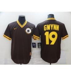 Men's Nike Majestic San Diego Padres #19 Tony Gwynn Brown MLB Jersey