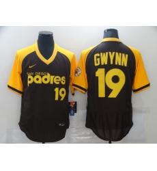 Men's Nike San Diego Padres #19 Tony Gwynn Brown MLB Jersey
