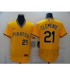 Men's Nike Pittsburgh Pirates #21 Roberto Clemente Gold MLB Jersey