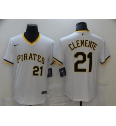 Men's Nike Pittsburgh Pirates #21 Roberto Clemente White Flexbase Authentic Jersey