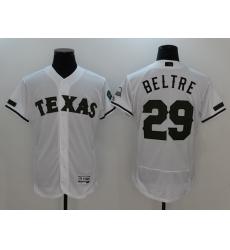 Men's Texas Rangers #29 Adrian Beltre White Cooperstown Collection Jersey