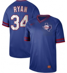Men's Nike Texas Rangers #34 Nolan Ryan Royal Authentic Cooperstown Collection Stitched Baseball Jersey