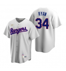 Men's Nike Texas Rangers #34 Nolan Ryan White Cooperstown Collection Home Stitched Baseball Jersey