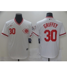 Men's Nike Cincinnati Reds #30 Ken Griffey White Authentic Jersey