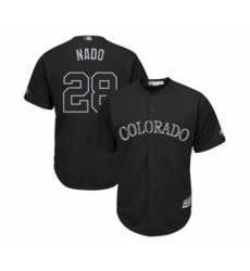 Men's Colorado Rockies #28 Nolan Arenado  Nado  Authentic Black 2019 Players Weekend Baseball Jerseyy