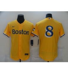 Men's Boston Red Sox #8 Carl Yastrzemski Nike Gold-Light Blue 2021 City Connect Jersey