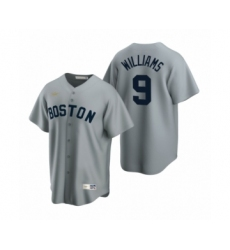 Women's Boston Red Sox #9 Ted Williams Nike Gray Cooperstown Collection Road Jersey