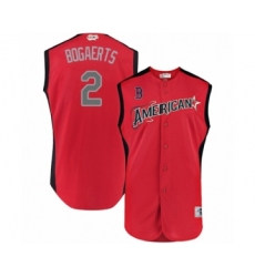 Youth Boston Red Sox #2 Xander Bogaerts Authentic Red American League 2019 Baseball All-Star Jersey