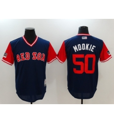 Men's Boston Red Sox #50 Mookie Betts Mookie Navy Players Weekend Team Jersey