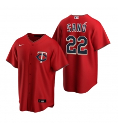 Men's Nike Minnesota Twins #22 Miguel Sano Red Alternate Stitched Baseball Jersey