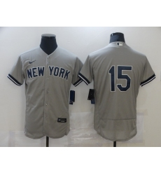 Men's Nike New York Yankees #15 Thurman Munson Grey Road Flex Base Authentic Collection Jersey