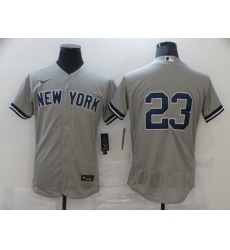 Men's Nike New York Yankees #23 Don Mattingly Grey Road Flex Base Authentic Collection Jersey