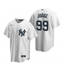 Men's Nike New York Yankees #99 Aaron Judge White Home Stitched Baseball Jersey