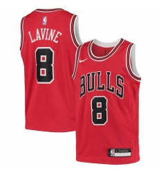 Youth Chicago Bulls #8 Zach LaVine Nike Red 2020-21 Swingman Jersey