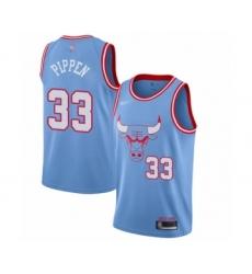 Men's Chicago Bulls #33 Scottie Pippen Swingman Blue Basketball Jersey - 2019 20 City Edition
