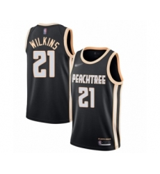 Men's Atlanta Hawks #21 Dominique Wilkins Swingman Black Basketball Jersey - 2019 20 City Edition