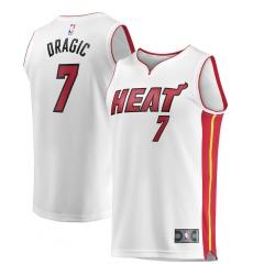 Men's Miami Heat #7 Goran Dragic Fanatics Branded White 2020-21 Fast Break Replica Jersey