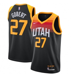 Men's Utah Jazz #27 Rudy Gobert Nike Black 2020-21 Swingman Player Jersey