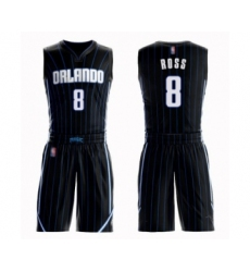 Men's Orlando Magic #8 Terrence Ross Authentic Black Basketball Suit Jersey Statement Edition