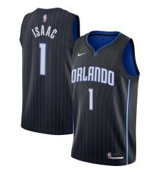 Men's Orlando Magic #1 Jonathan Isaac Nike Black 2020-21 Swingman Jersey