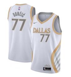 Men's Denver Nuggets #15 Nikola Jokic Jordan Brand Blue 2020-21 Swingman Jersey