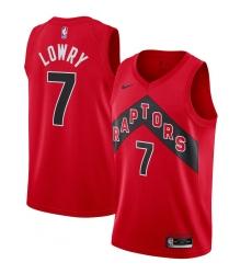 Youth Toronto Raptors #7 Kyle Lowry Nike Red 2020-21 Icon Swingman Jersey