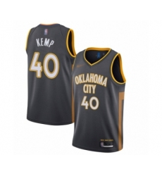 Men's Oklahoma City Thunder #40 Shawn Kemp Swingman Charcoal Basketball Jersey - 2019 20 City Edition
