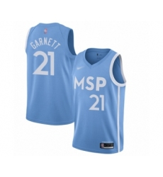 Youth Minnesota Timberwolves #21 Kevin Garnett Swingman Blue Basketball Jersey - 2019 20 City Edition