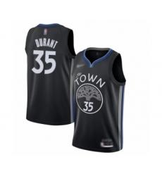 Men's Golden State Warriors #35 Kevin Durant Swingman Black Basketball Jersey - 2019 20 City Edition