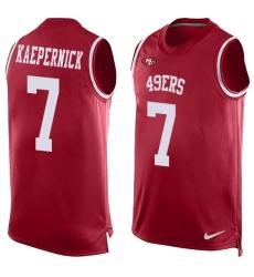 Men's Nike San Francisco 49ers #7 Colin Kaepernick Limited Red Player Name & Number Tank Top NFL Jersey