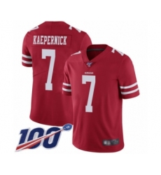 Men's San Francisco 49ers #7 Colin Kaepernick Red Team Color Vapor Untouchable Limited Player 100th Season Football Jersey