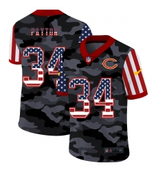 Men's Chicago Bears #34 Walter Payton Camo Flag Nike Limited Jersey