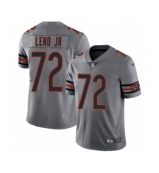 Women's Chicago Bears #72 Charles Leno Limited Silver Inverted Legend Football Jersey