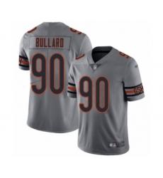 Men's Chicago Bears #90 Jonathan Bullard Limited Silver Inverted Legend Football Jersey