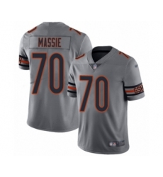 Women's Chicago Bears #70 Bobby Massie Limited Silver Inverted Legend Football Jersey